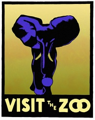 WPA 1937 poster promoting visits to American zoos