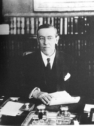 Roosevelt supported Governor Woodrow Wilson in the 1912 presidential election