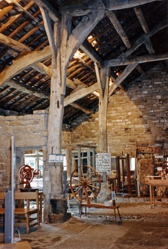 Interior of craft museum at Wycoller