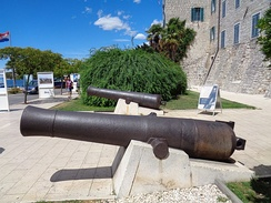 Cannon from the 15th century at Šibenik city walls