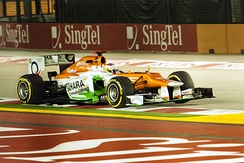Paul di Resta finished in a career-best fourth place in Singapore.