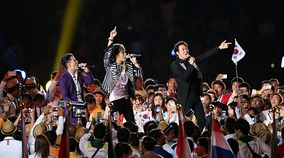 JYJ in 2014 Asian Games opening ceremony
