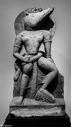 A 3rd century sculpture from Uttar Pradesh of Varaha, an avatar of Vishnu