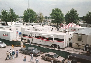 The ABC Sports broadcasting complex at the 1993 Indianapolis 500.