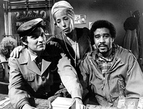 Pryor also performed in the Lily Tomlin specials. He is seen here with Tomlin and Alan Alda in Tomlin's 1973 special.