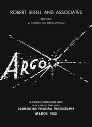 Movie poster of fake sci-fi film Argo, created as part of the cover story for Canadian Caper