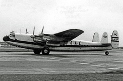 BOAC York operating a freight schedule at Heathrow in 1953