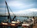 The U.S. Army Corps of Engineers assists in the salvage of Belle of Louisville after the 1997 incident.