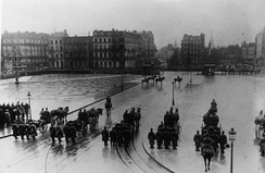 German military parade in Lille, 1915