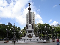 Monument dedicated to the heroes of the battles of Bahia's independence from Portugal in the Campo Grande Square