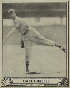 Hubbell's 1940 Play Ball baseball card
