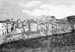 Illustration of the Carpineto Romano as seen in 1860