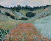 Claude Monet, Poppy Field in a Hollow near Giverny, 1888