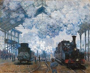 Claude Monet, The Gare Saint-Lazare, Arrival of a Train, 1877