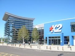 Entrance to the K2 Leisure Centre