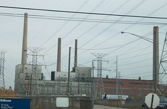St. Clair Power Plant, a large coal-fired generating station in Michigan, United States