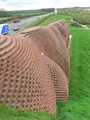 East of Darlington, the A66 passes the Brick Train sculpture