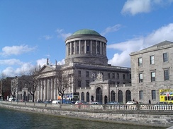 The Four Courts, completed in 1802, is the principal building for civil courts.