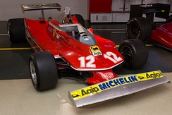 Ferrari won the International Cup for F1 Constructors with its 312T3 and 312T4 (pictured) models.