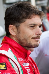 Giancarlo Fisichella (pictured in 2012) earned his first podium finish of the season in second.