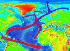 Sketch of the North Equatorial Current and the Gulf Stream
