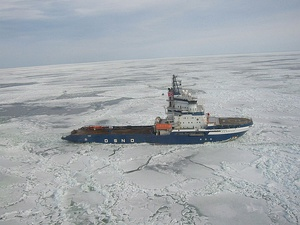 Finnish icebreaker MSV Fennica in the Bay
