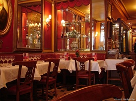 Le Procope is in 18th-century style