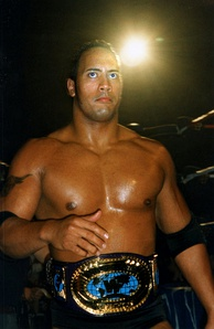 The Rock during one of his two Intercontinental Championship reigns