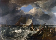 Calais Pier, 1801, oil on canvas, National Gallery