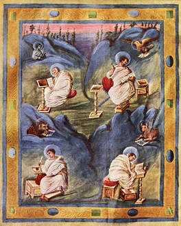 Carolingian depiction from an Aachen Gospel, 820
