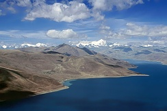 Yamdrok Lake is one of the three largest sacred lakes in Tibet.
