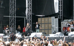 Lamb of God performing in 2009