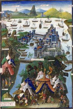 The final siege of Constantinople, contemporary 15th-century French miniature.