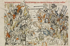 Battle of Legnica, medieval illuminated manuscript
