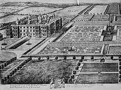 Drawing of Longleat from the early 18th century by Leonard Knyff
