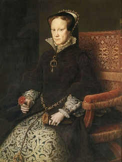 Queen Mary I of England restored the English allegiance to Rome.