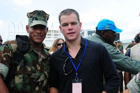 Damon volunteering in Haiti as part of the United Nations Stabilization Mission