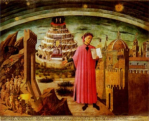 Dante by Domenico di Michelino, from a fresco painted in 1465