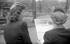 Montreal Daily Star: «Germany Quit», 7 мая 1945