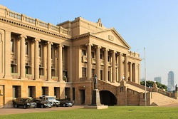 The Old Parliament Building near the Galle Face Green, now the Presidential Secretariat