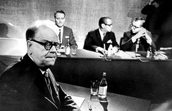 Prime Minister Tage Erlander (left) was Prime Minister under the ruling Swedish Social Democratic Party from 1946 to 1969.