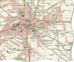 Map of Paisley in early 1900s