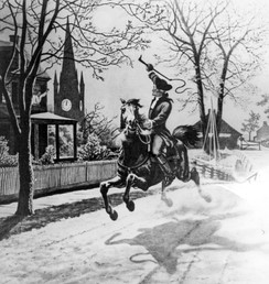 20th-century depiction of Revere's ride