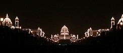 Rashtrapati Bhavan lit up for Republic Day of India