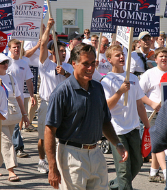 Mitt Romney at a Labor Day parade in Milford, New Hampshire, September 1, 2007