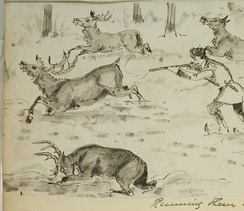 Sketches of Hudson Bay Life: Running them down, by Harry Bullock-Webster
