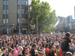 Melburnians during the live music rally in 2010