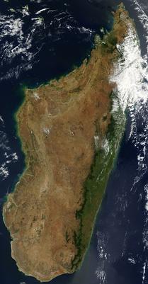 Вид на остров Мадагаскар с околоземной орбиты