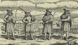 Contemporary engraving of Scots mercenaries serving in the Thirty Years War