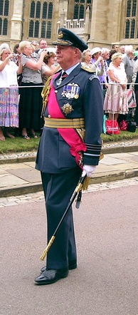 Air Chief Marshal Sir Richard Johns in his dress uniform, wearing the star, ribbon, and badge of a military Knight Grand Cross of the Order of the Bath.